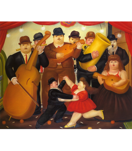 Fernando Botero - Dancing in Colombia. Printing on canvas