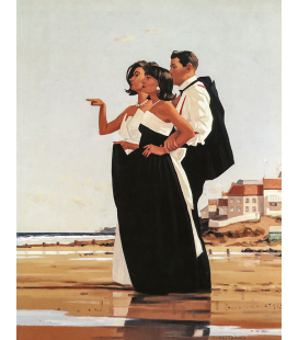 Jack Vettriano - The Missing Man II. Printing on canvas