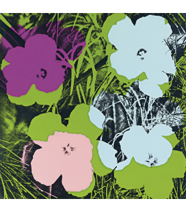 Andy Warhol - Flowers Printing on canvas