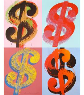 Andy Warhol - Dollar Sign 283 (Quad)