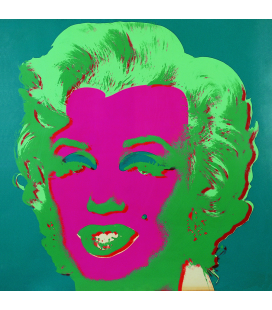 Andy Warhol - Marilyn, 1967 Pink on Green