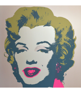 Andy Warhol - Marilyn Monroe, Blue on Gray