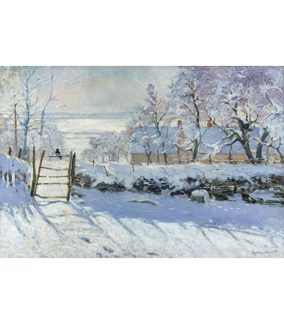 Stampa su tela: Claude Monet - Gazza