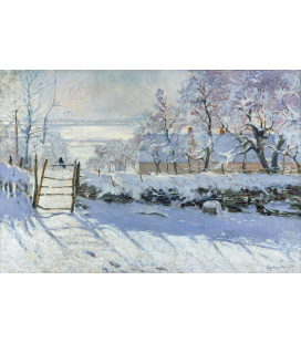Printing on canvas: Claude Monet - The Magpie