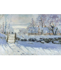 Claude Monet - The Magpie. Printing on canvas