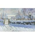 Claude Monet - Gazza. Stampa su tela