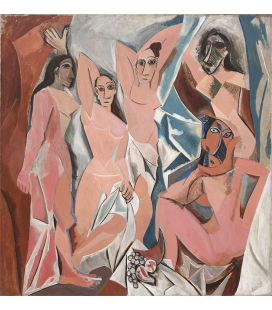 Picasso Pablo - Les Demoiselles d'Avignon. Stampa su tela