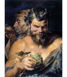 Peter Paul Rubens - Two satyrs (i Fauni). Printing on canvas