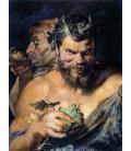 Stampa su tela: Peter Paul Rubens - Due satiri (i Fauni)