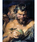 Printing on canvas: Peter Paul Rubens - Two satyrs (i Fauni)