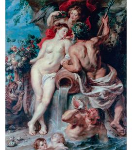 Peter Paul Rubens - L'unione di terra e acqua acqua. Stampa su tela