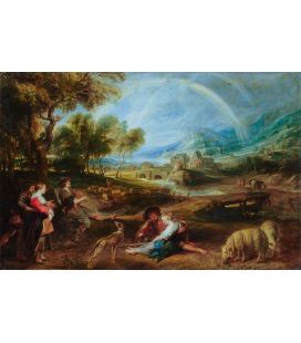 Peter Paul Rubens - Paesaggio con un arcobaleno. Stampa su tela