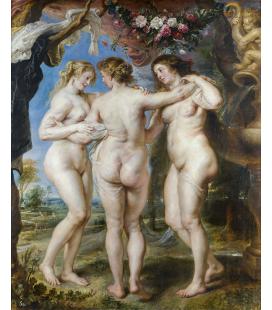 Peter Paul Rubens - Le tre Grazie. Stampa su tela