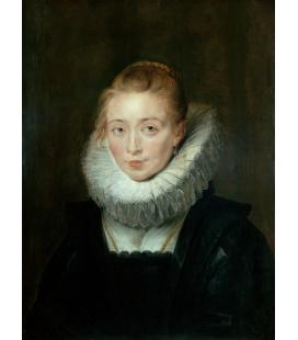 Peter Paul Rubens - Ritratto della damigella d'onore dell'infanta Isabella. Stampa su tela