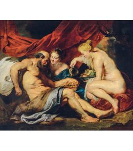 Peter Paul Rubens - Lot e le sue figlie. Stampa su tela