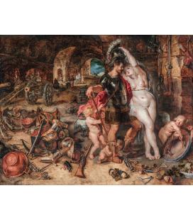 Peter Paul Rubens - Marte disarmato da Venere. Stampa su tela