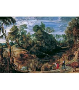 Peter Paul Rubens - Paesaggio con Pastori e Mucche. Stampa su tela