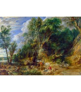 Peter Paul Rubens - L'abbeveratoio. Stampa su tela