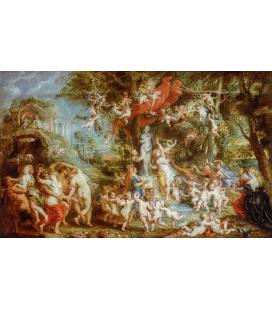 Peter Paul Rubens - La Festa di Venere. Stampa su tela