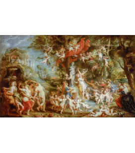 Peter Paul Rubens - Venus Festival. Printing on canvas