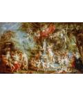 Peter Paul Rubens - Venus Festival. Printing on canvas
