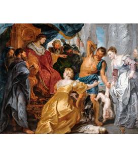 Peter Paul Rubens - Il giudizio di Salomone. Stampa su tela