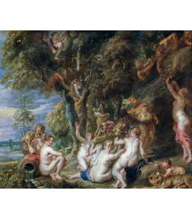 Peter Paul Rubens - Nymphs and Satyrs. Printing on canvas