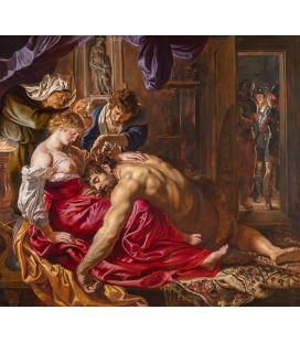 Peter Paul Rubens - Sansone e Dalila, Stampa su tela