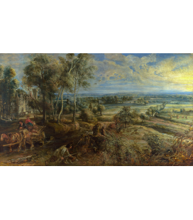 Peter Paul Rubens - A View of Het Steen in the Early Morning. Printing on canvas