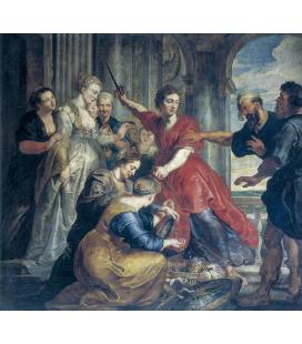 Peter Paul Rubens - Achille scoperto da Ulisse e Diomede, Stampa su tela