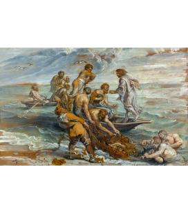 Peter Paul Rubens - La Pesca Miracolosa, Stampa su tela