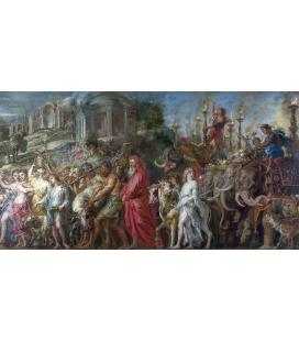 Peter Paul Rubens - Il Trionfo di Roma, Stampa su tela