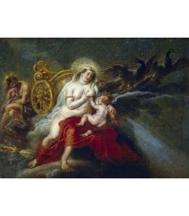 Peter Paul Rubens - Il Mito della Via Lattea, Stampa su tela