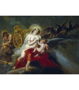 Peter Paul Rubens - The Birth of the Milky Way. Printing on canvas