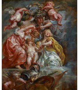 Peter Paul Rubens - L'unione tra Inghilterra e Scozia, Stampa su tela