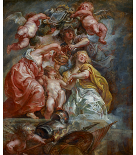 Peter Paul Rubens - The Union of England and Scotland. Printing on canvas