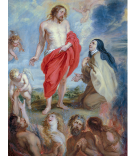 Peter Paul Rubens - Saint Teresa of Avila intercedes for the souls of Purgatory. Printing on canvas