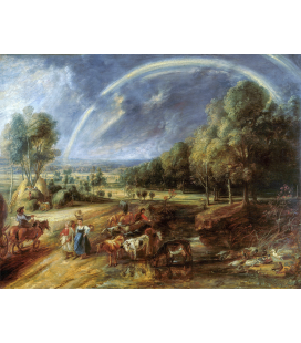 Peter Paul Rubens - Landscape with a Rainbow. Printing on canvas