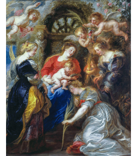 Peter Paul Rubens - St. Catherine's Crowning. Printing on canvas