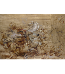 Peter Paul Rubens - A Lion Hunt. Printing on canvas