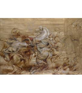 Peter Paul Rubens - Caccia al leone. Stampa su tela