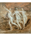 Peter Paul Rubens - The Three Graces. Printing on canvas