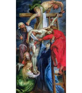 Peter Paul Rubens - Schiodazione di Cristo Gesù Nostro Signore. Stampa su tela
