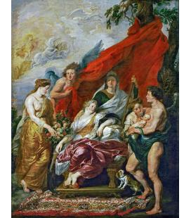 Peter Paul Rubens - La nascita del Delfino a Fontainebleau. Stampa su tela