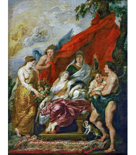 Peter Paul Rubens - The Birth of the Dauphin at Fontainebleau. Printing on canvas
