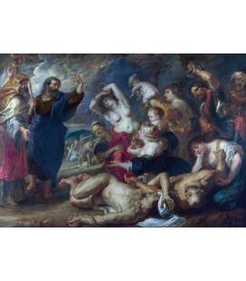 Peter Paul Rubens - Il serpente di bronzo. Stampa su tela