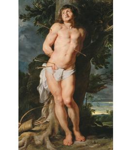 Peter Paul Rubens - San Sebastiano. Stampa su tela