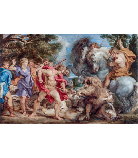 Peter Paul Rubens - The Calydonian Boar Hunt. Printing on canvas