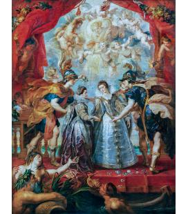 Peter Paul Rubens - Lo Scambio delle due principesse di Francia e di Spagna. Stampa su tela