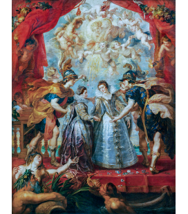 Peter Paul Rubens - The Exchange of the Princesses at the Spanish Border. Printing on canvas